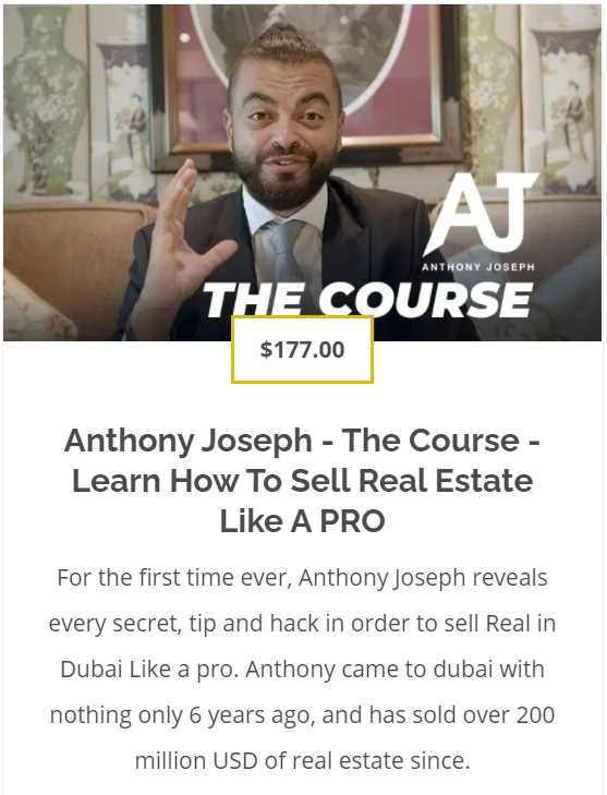 The Course - Learn How to sell Real Estate like a PRO